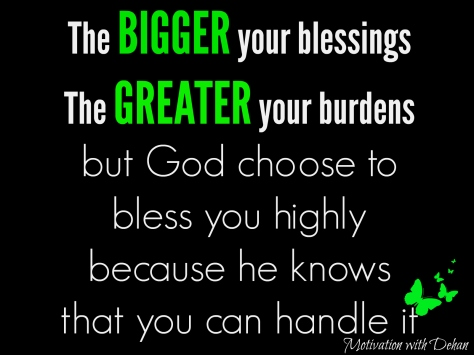 Quotes about blessings and burdens