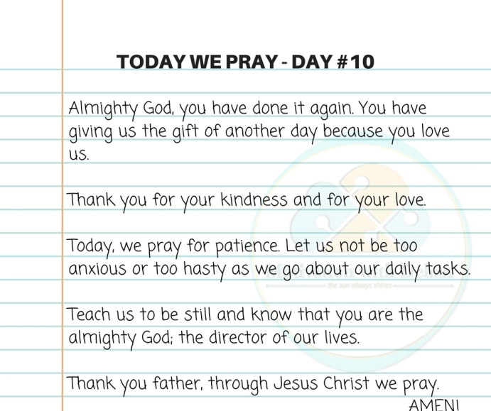 Today we pray (2)