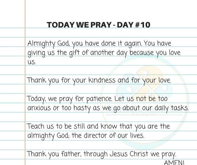 Today we pray (2)